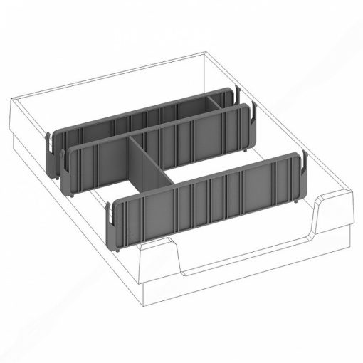 Dělící příčka do zásuvky kontejneru DPN