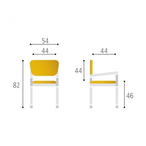 Konferenční židle TRITON NET - parametry
