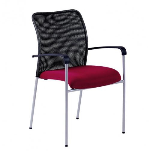 Konferenční židle TRITON NET - vínová