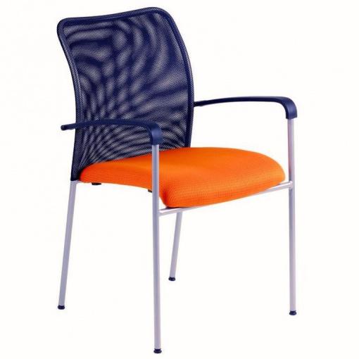 Konferenční židle TRITON NET - oranžová