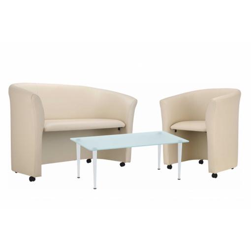 Stůl skleněný QUATTRO OBDÉLNÍK a sezení Selly