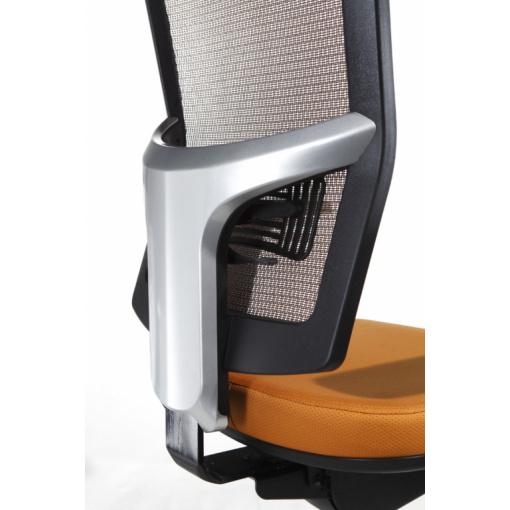 Síťovaná židle Emagra X5 - detail opěráku se systémem UP-DOWN