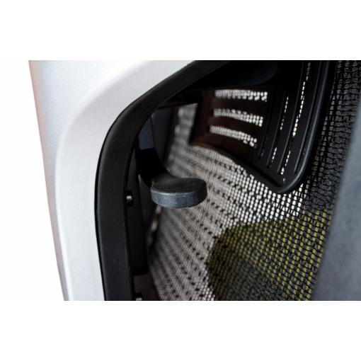 Síťovaná židle Emagra X5 - detail standardní bederní opěrky