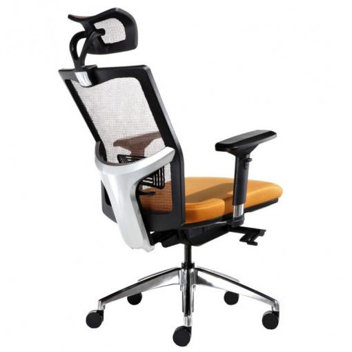 Síťovaná židle Emagra X5 - područky 3B, Alu kříž, mechanika F