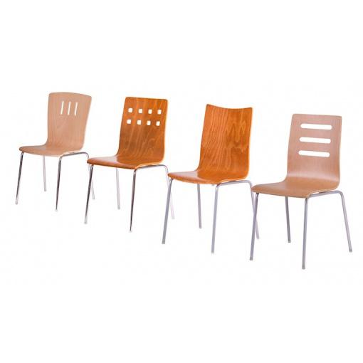 Jídelní dřevěné židle - série