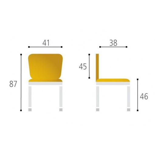 Jídelní dřevěná židle RITA - rozměry