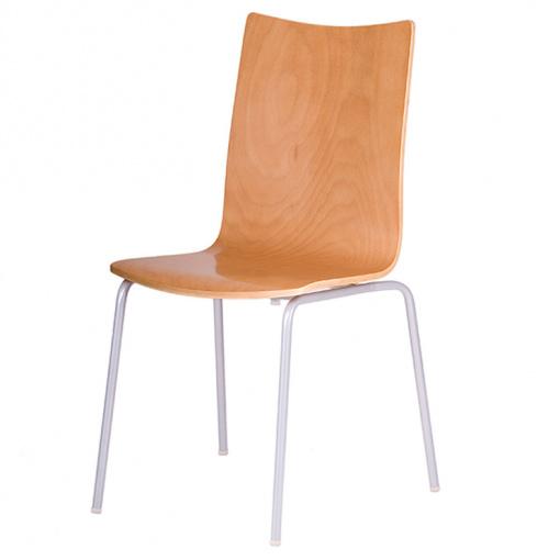 Jídelní dřevěná židle RITA - dezén buk, nohy šedá