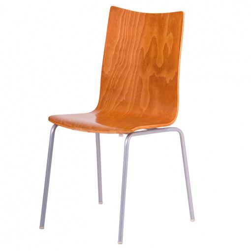 Jídelní dřevěná židle RITA - dezén třešeň, nohy šedá
