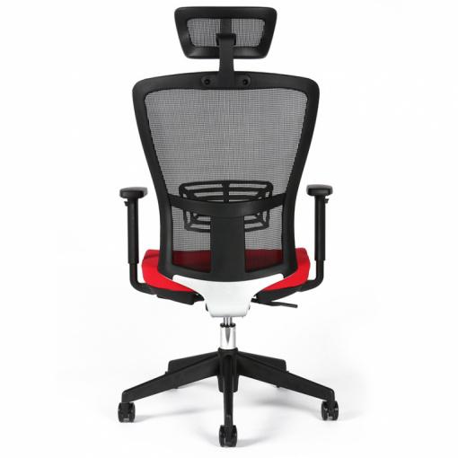 Kancelářská židle s podhlavníkem THEMIS - zezadu, bederní opěrka