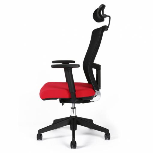 Kancelářská židle s podhlavníkem THEMIS - zboku