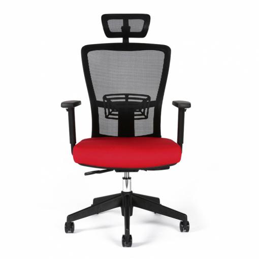 Kancelářská židle s podhlavníkem THEMIS - zepředu