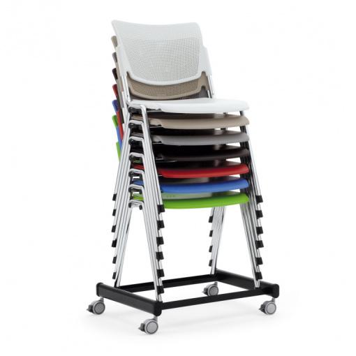 Jednací čalouněná židle MIA - stohovatelnost