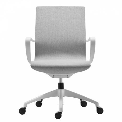 Kancelářská síťovaná židle VISION verze IVORY/ NET WHITE - bílý plast/bílá síť