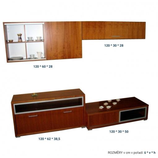 Obývací stěna VARIO - rozměry