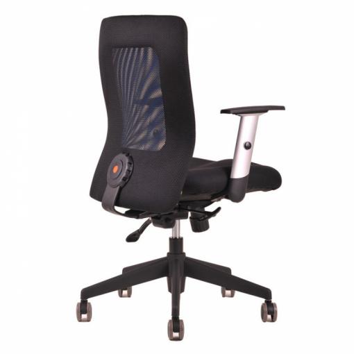 Síťovaná židle CALYPSO - zezadu (modrá)