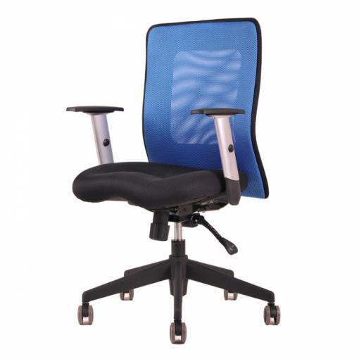 Síťovaná židle CALYPSO - zboku (modrá)