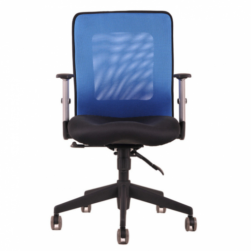 Síťovaná židle CALYPSO - zepředu (modrá)