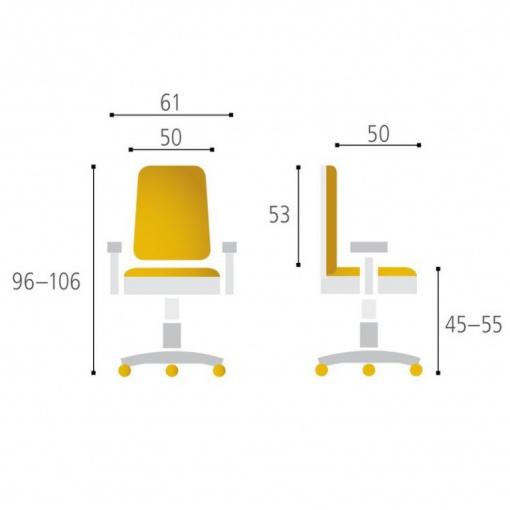 Síťovaná židle CALYPSO - parametry