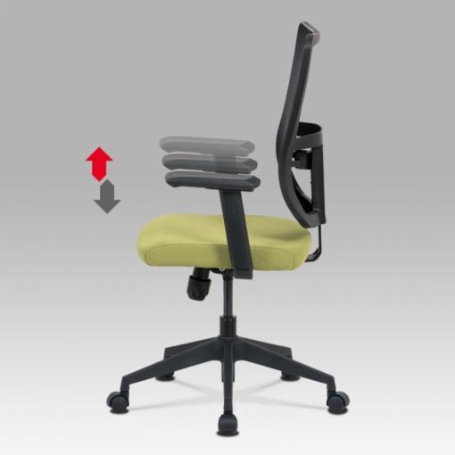 Síťovaná židle KA-M02 GRN - výškové nastavení područek