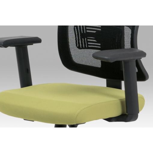 Síťovaná židle KA-M02 GRN - detail sedáku a područek