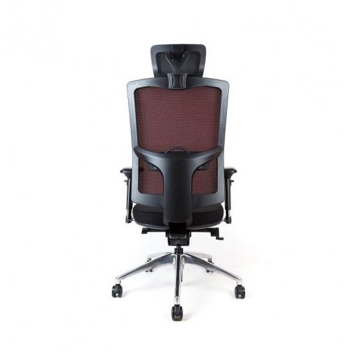 Síťovaná židle Emagra X5 - volitelné černé krytky zad a opěrky hlavy