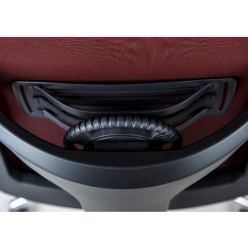 Síťovaná židle Emagra X5 - volitelná 2D bederní opěrka nastavitelná výškově i hloubkově