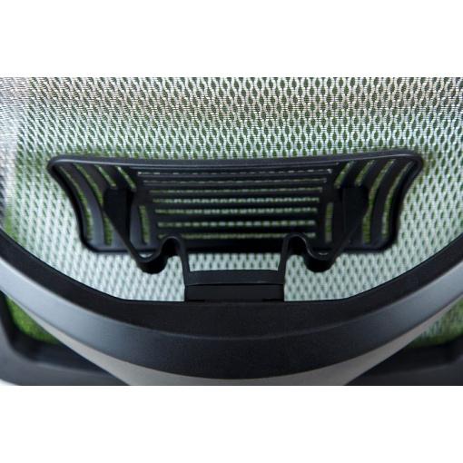 Síťovaná židle Emagra X5H - detail standardní výškově stavitelné bederní opěrky