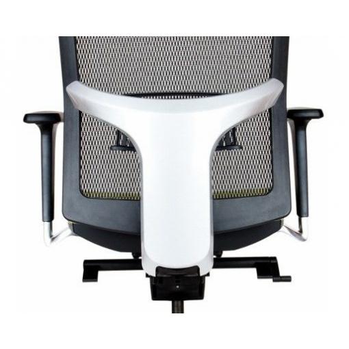 Síťovaná židle Emagra X5 - volitelné šedé krytky zad a opěrky hlavy