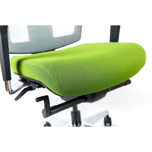 Síťovaná židle Emagra X5 - sedák v látce Omega 68116, opěrák a podhlavník v síťovině 58