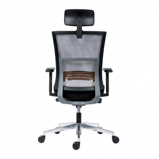 Kancelářská síťovaná židle NEXT PDH -  šedá síť/černá látka