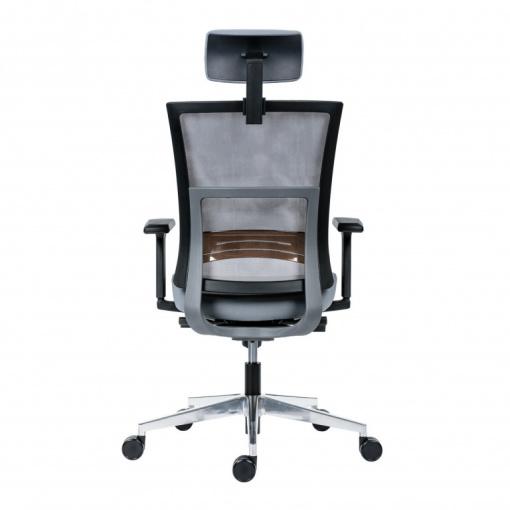 Kancelářská síťovaná židle NEXT PDH -  šedá síť/šedá látka