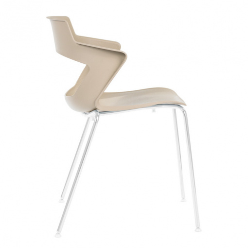 Konferenční plastová židle AOKI 2160 PC - béžová