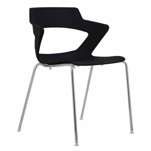 Konferenční plastová židle AOKI 2160 PC - černá