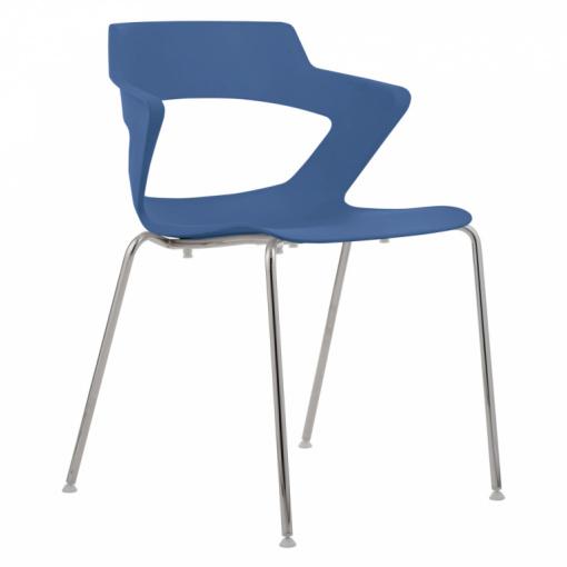 Konferenční plastová židle AOKI 2160 PC - modrá