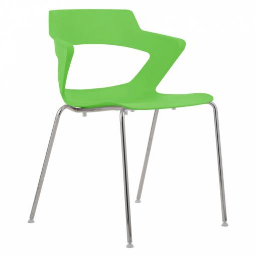 Konferenční plastová židle AOKI 2160 PC - zelená