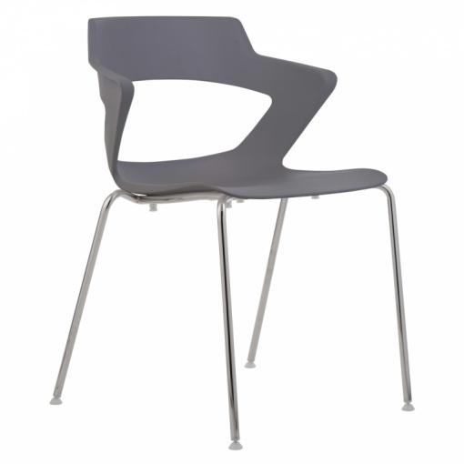 Konferenční plastová židle AOKI 2160 PC - šedá
