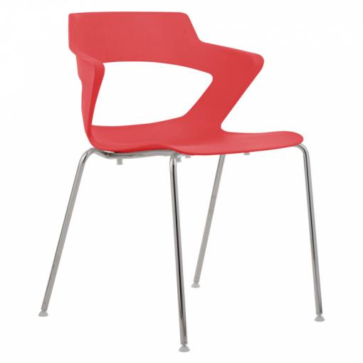 Konferenční plastová židle AOKI 2160 PC - červená