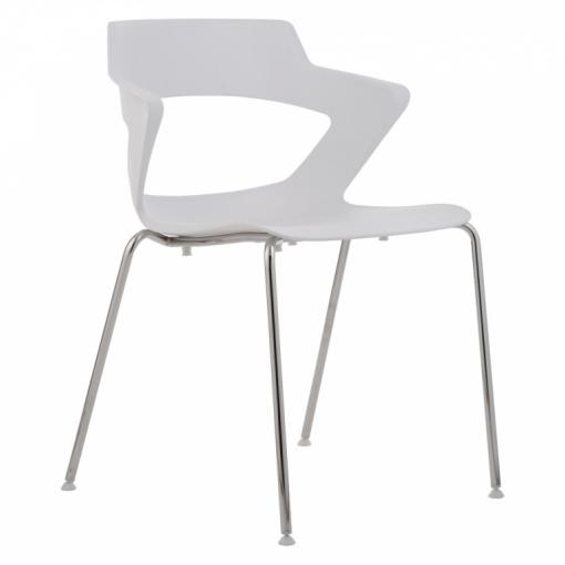 Konferenční plastová židle AOKI 2160 PC - bílá