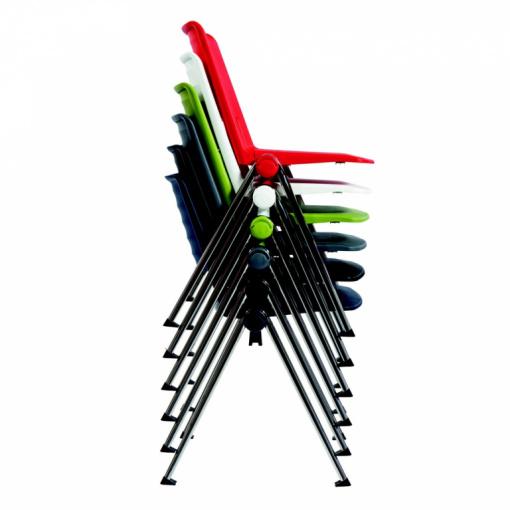 Konferenční plastová židle 2200 RAVE - vynikající stohovatelnost až 15 ks