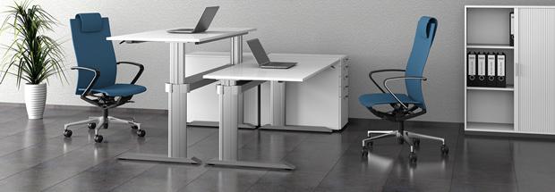 výškově stavitelné stoly Leuwico-GO2basic
