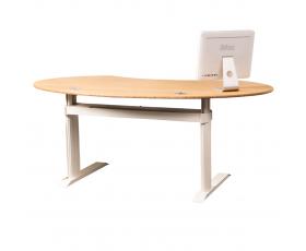 Luxusní výškově stavitelný stůl GO2basic s bambusovou deskou